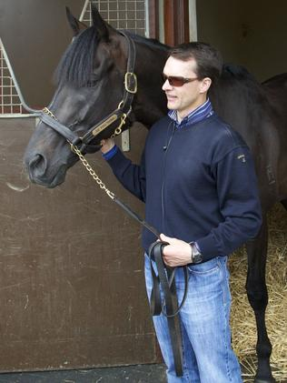 Irish trainer Aidan O'Brien with 10-time Group 1 winner So You Think.
