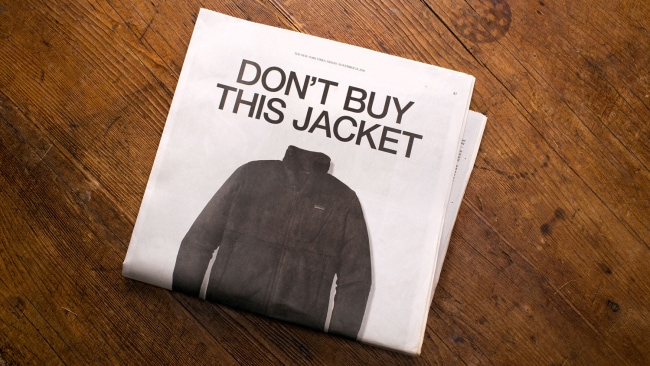 Patagonia do not want you to buy this jacket. Photo: Adweek