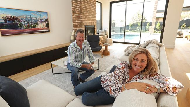 Tracy and Stephen Barry are confident the timing is just right to sell their Brisbane home. Lyndon Mechielsen/TheAustralian