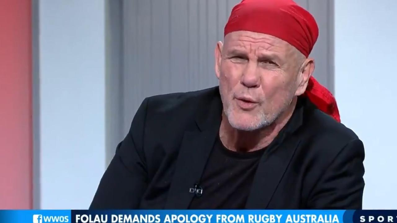 Peter FitzSimons gives Israel Folau both barrels on Channel 9's Sports Sunday.