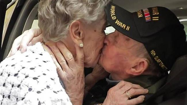 The pair had an emotional reunion in Pierson's retirement home in France after Robbins told a group of French journalists about the woman he fell in love with 75 years ago. Source: France 24