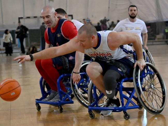 A training session in Kiev during preparation for the Invictus Games The Hague 2020, which might be cancelled due to the coronavirus. Picture: AFP