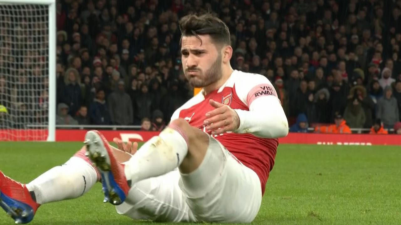 Sead Kolasinac vomited on the pitch in the Premier League overnight