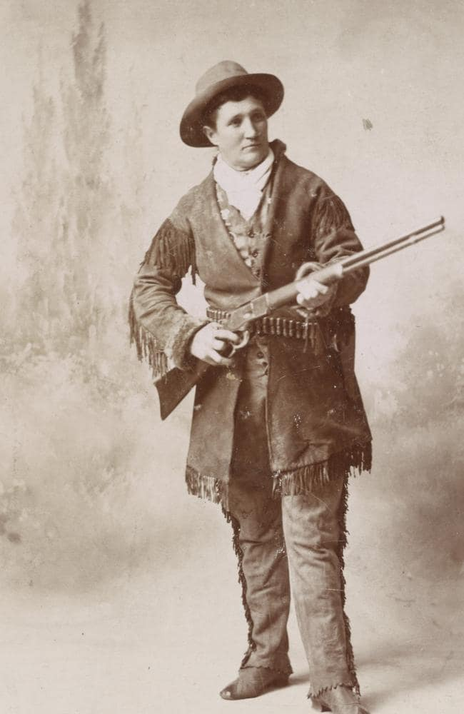 Calamity Jane pictured in men's clothing in 1895. Picture: News Dog Media/australscope.