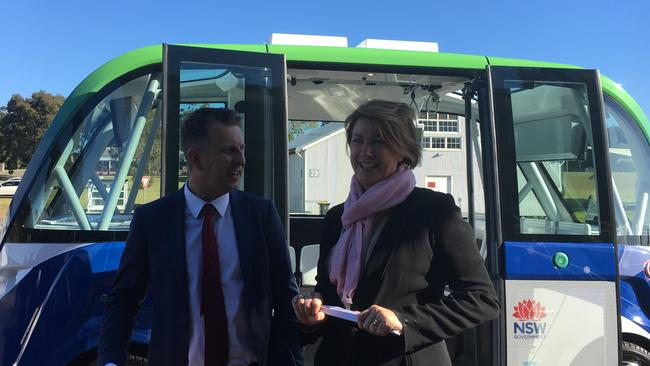 NSW Transport Minister Andrew Constance with Roads Minister Melinda Pavey. Picture: supplied