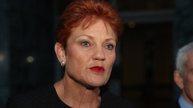 Pauline Hanson says the public braodcasters need to be more transparent. Picture Gary Ramage