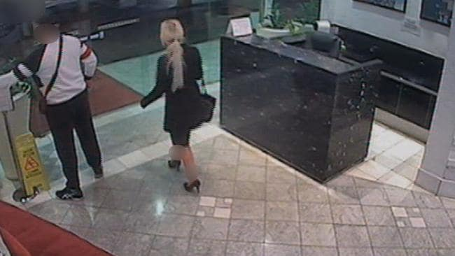 CCTV footage of Kayirici with one of the women he raped and robbed after pretending to be a client.