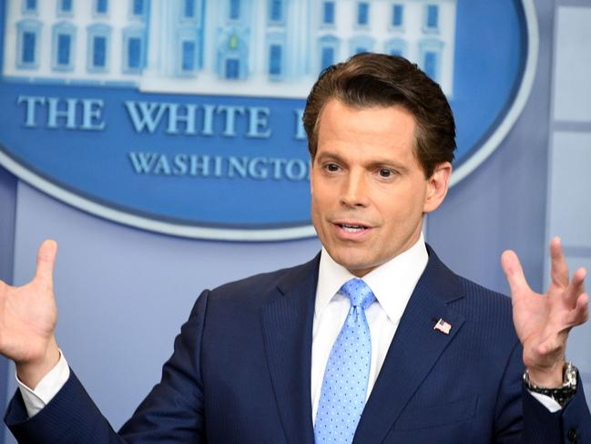 Anthony Scaramucci's tenure as White House communications director famously lasted just 10 days. Picture: AFP