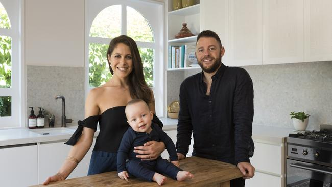 Georgia Ezra, husband Richard and son Jesse, now 2, at their home in 2017.