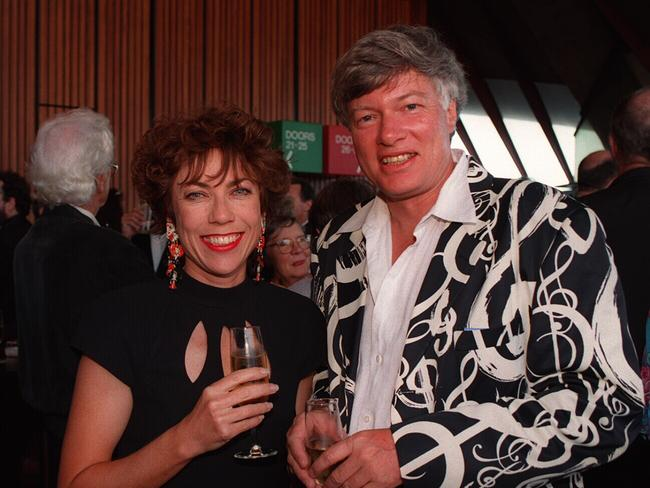 Author Kathy Lette and husband Geoffrey Robertson QC, at the Opera House in 1995. Picture: News Corp Australia