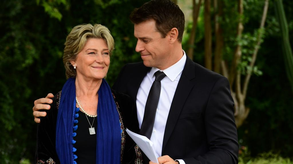 Rodger Corser shared a teaser video of the final two episodes on Instagram. Picture: Channel 9