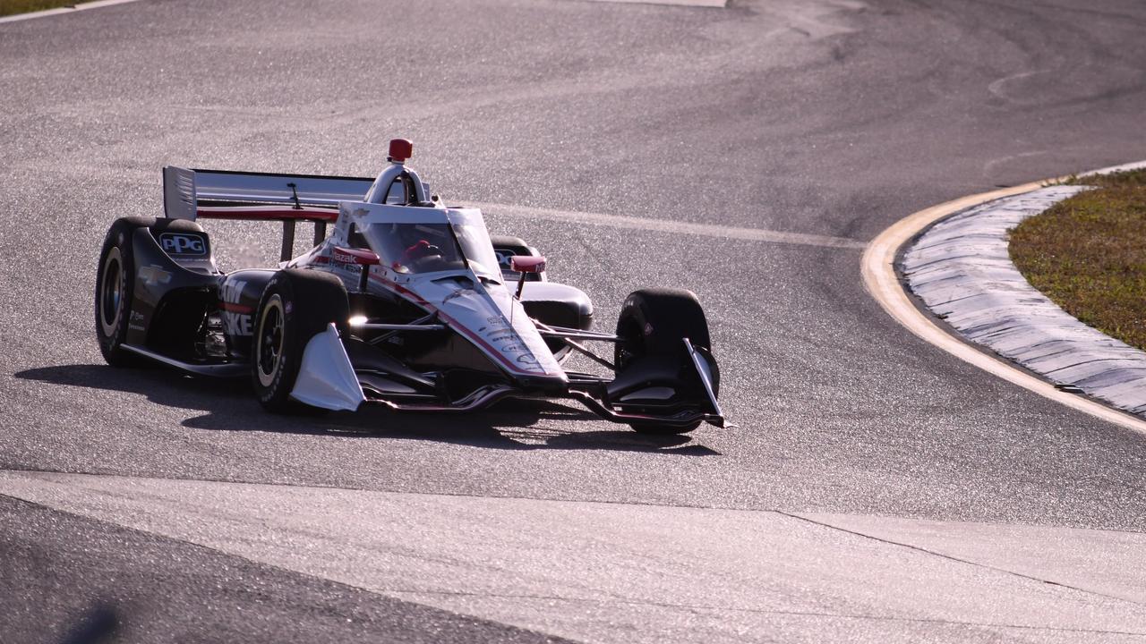 Scott McLaughlin on track at Sebring on Monday. Pic: @Team_Penske