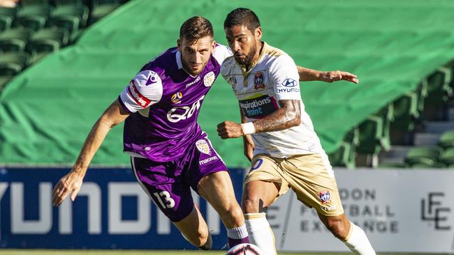 Matthew Spiranovic and Ronald Vargas were the centre of attention in Perth.