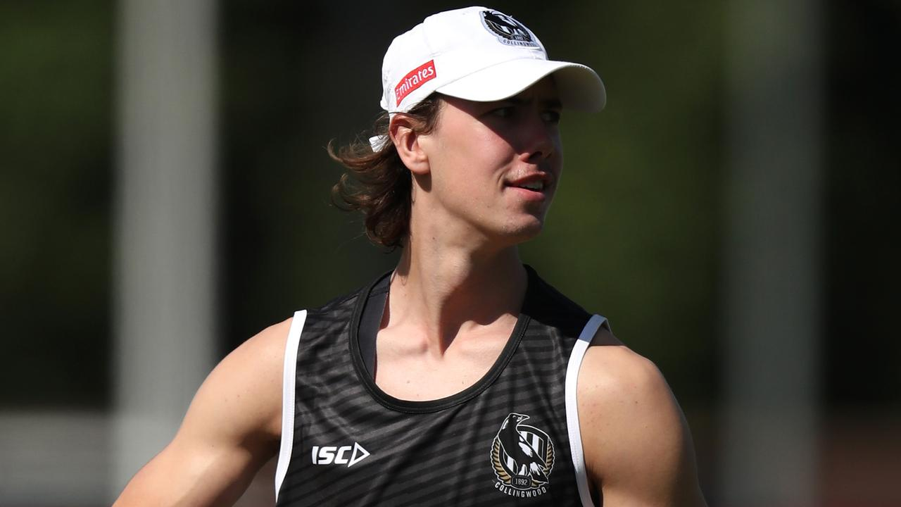 Tyler Brown should debut in 2020 for Collingwood. Photo: Michael Willson/AFL Photos via Getty Images