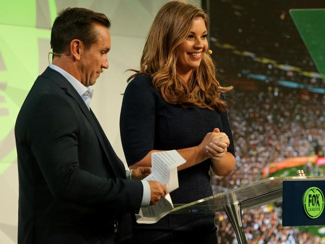 Matty Johns and Yvonne Sampson during the launch of FOX LEAGUE Channel 502.