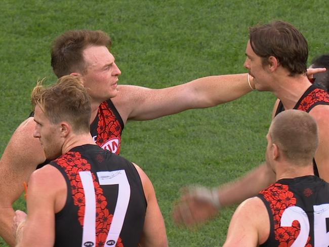 Brendon Goddard in a spat with his Essendon teammates.