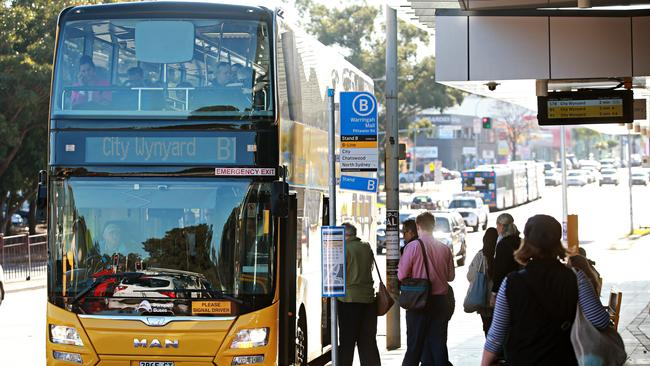 Sydney's new B-Line double deckers were a bright spot with punctuality. Picture: Adam Yip/Manly Daily