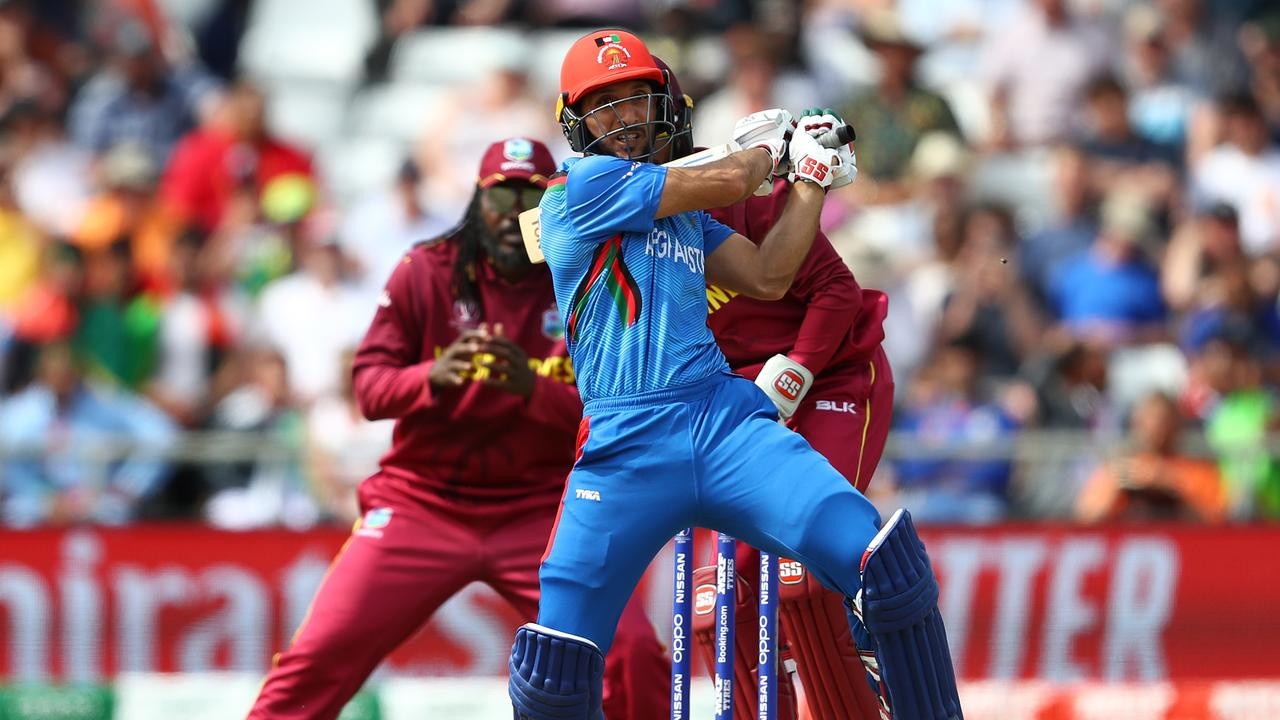 So close: Afghanistan batted well but fell 23 runs short of victory. (Photo by Michael Steele/Getty Images)