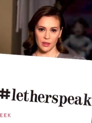 Alyssa Milano has also joined the #LetHerSpeak campaign. Picture: Supplied