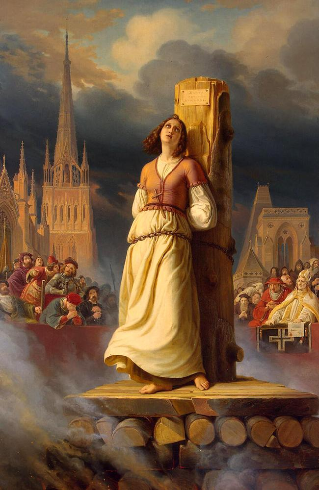 Joan of Arc's Death at the Stake. Image shot 1843.