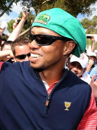 Everyone wanted to see Tiger Woods at Royal Melbourne in 2011. Pic: AFP