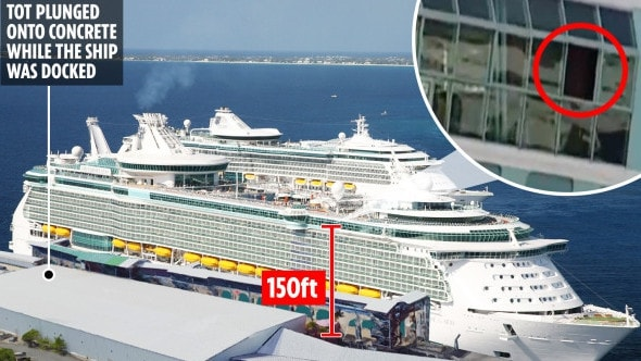 Chloe Wiegand toddler death on cruise ship. Picture: The Sun