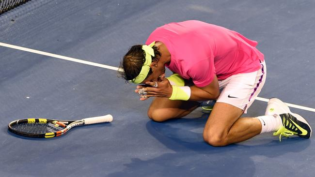 This is how much the win meant to Rafael Nadal.