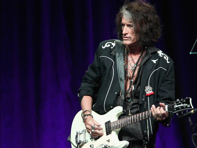 Joe Perry of Aerosmith onstage at Steven Tyler's party. Picture: Getty Images for Janie's Fund
