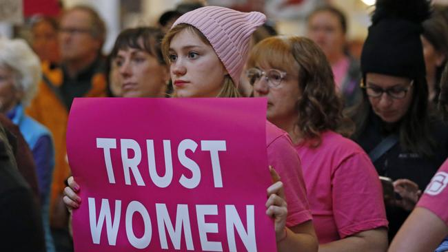 Activists in Salt Lake City, Utah, to protest abortion bans. Picture: Rick Bowmer/AP