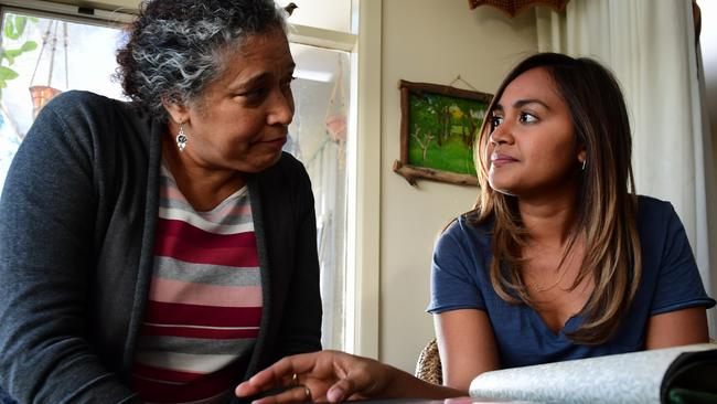 'The Secret Daughter' stars Rachel Maza and Jessica Mauboy. Photo: Supplied/Seven.