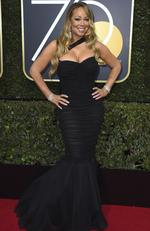 Mariah Carey arrives at the 75th annual Golden Globe Awards at the Beverly Hilton Hotel on Sunday, Jan. 7, 2018, in Beverly Hills, Calif. Picture: Jordan Strauss/Invision/AP