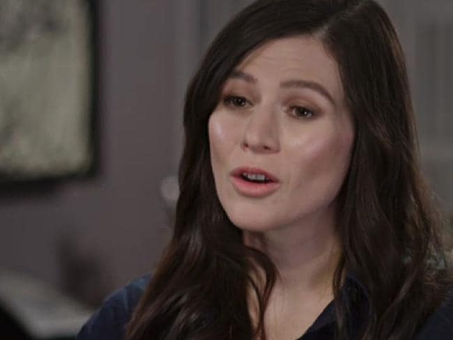 Yael Stone speaks on ABC's 7.30. Picture: ABC