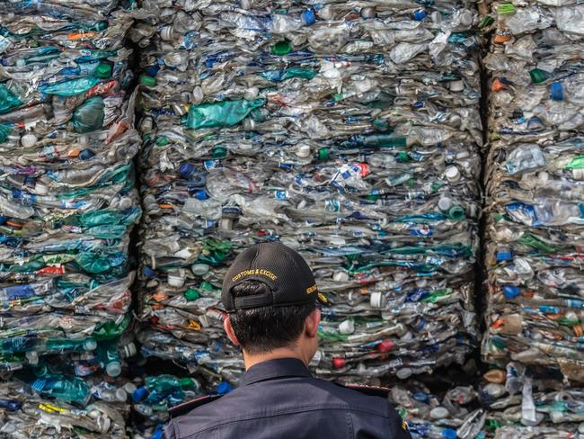 About 12 per cent of recyclable waste is processed in Australia – the rest is sent offshore. Picture: Graham Crouch