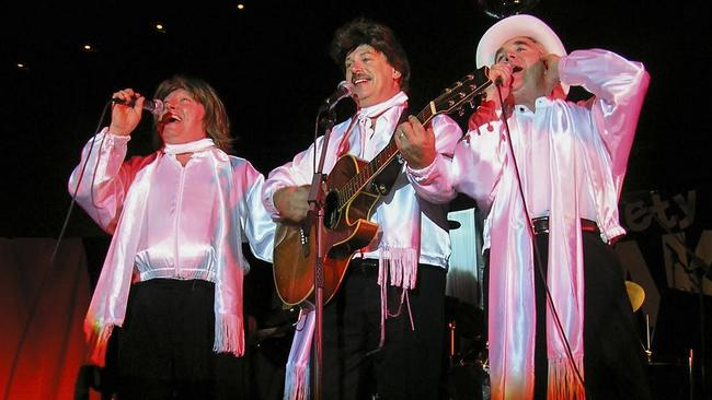 Wickety Wak channel the Bee Gees. Picture: Supplied.