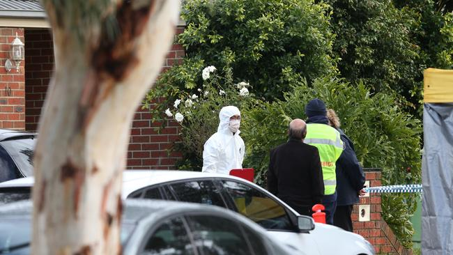 Police search the home of Yacqub Khayre at Roxburgh Park, Victoria. Picture: AAP