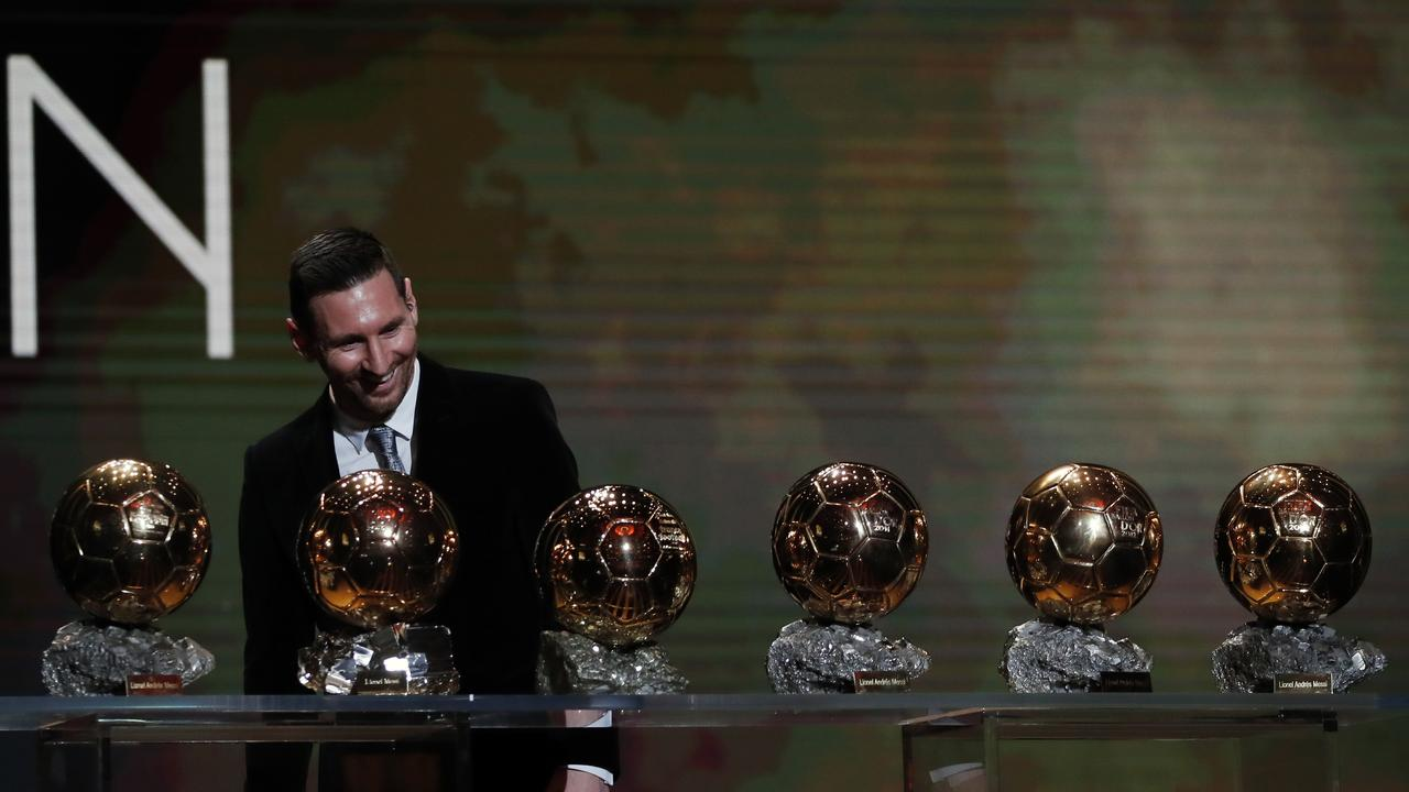 Lionel Messi has a record six Ballon d'Or awards.