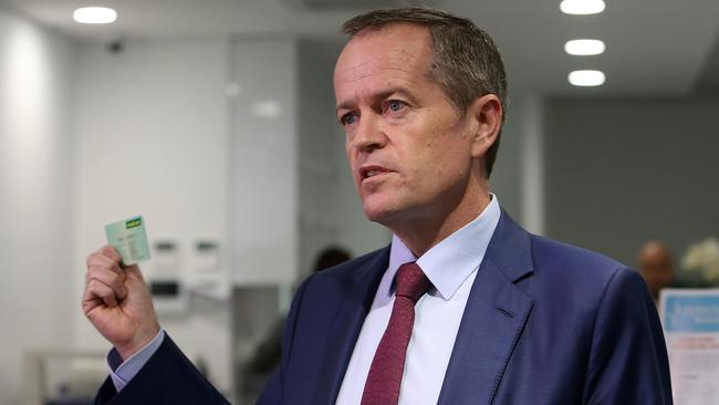"""Opposition Leader Bill Shorten's campaign — including his expensive """"positive policy"""" booklets — has been heavy on the scaremongering. Picture Kym Smith"""