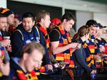 Crows and Tigers fans at the Melbourne Cricket Ground. Picture: Mark Stewart