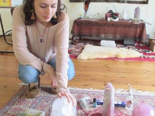 Becca Gronski lists healing with crystals as one of her skills. Picture: Facebook