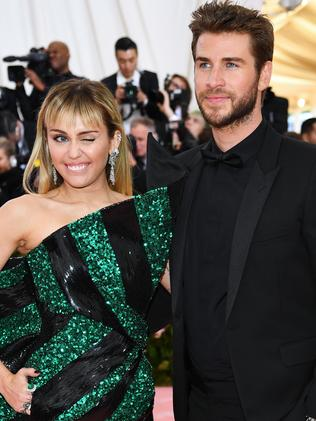 Miley Cyrus and Liam Hemsworth were married less than a year. Picture: Getty