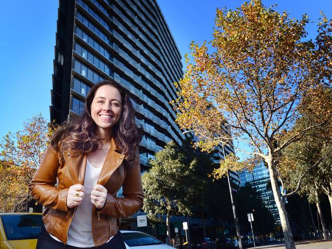 Emilia Rossi rents her own home but owns investment properties in three states. Picture: Nicki Connolly