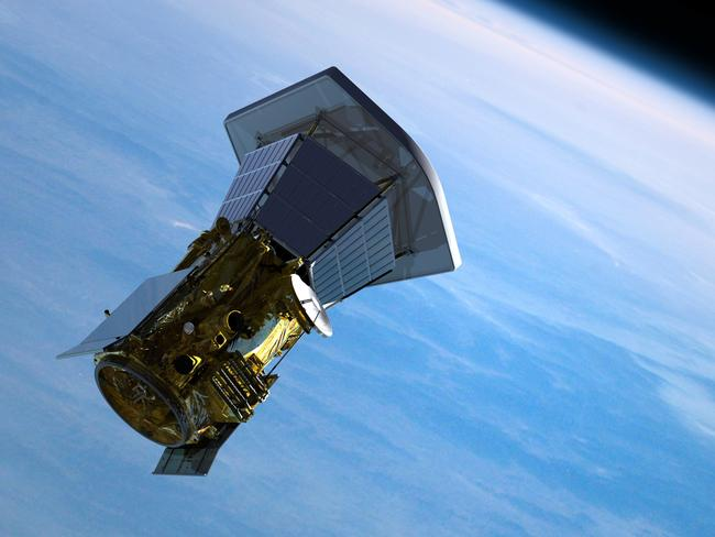This illustrations depicts the Solar Probe Plus spacecraft leaving Earth, after separating from its launch vehicle and booster rocket, bound for the inner solar system and an unprecedented study of the Sun. Picture: JHU/APL