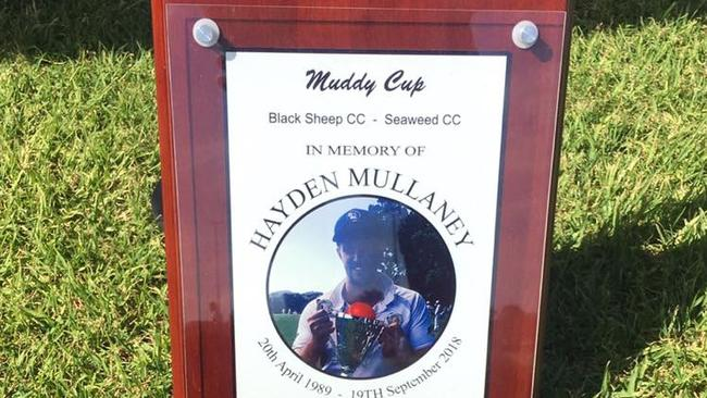 The Muddy Cup cricket memorial — Muddy was Hayden's nickname — was held in the 29-year-old's honour.
