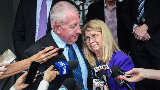Mark and Faye Leveson passionately sought justice for their son. Image: AAP Image/Brendan Esposito.
