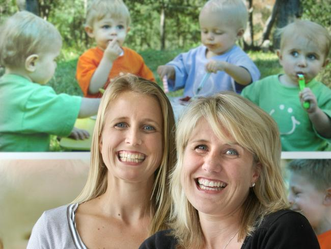 Bubs has come a long way since Kristy Carr, left, and sister Liesa Dailly (no longer involved in the business) had a bright idea back in 2005.