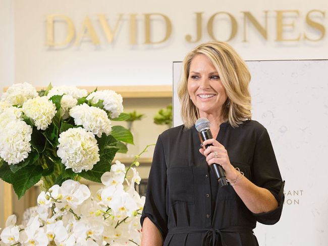 Georgie Gardner speaks at a David Jones launch on March 10, 2016 in Sydney. Photo: Cole Bennetts/Getty Images for David Jones.