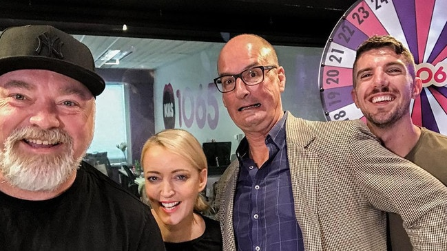 David Koch dropped into Kyle and Jackie O's KIIS FM studio.