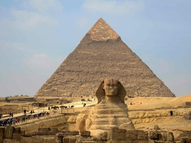 Scientists have discovered that the pyramid can trap electric and magnetic energy into its chambers to spark higher levels of energy. Picture: AFP