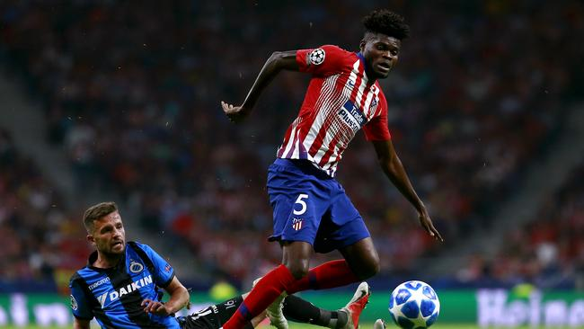 Thomas Partey could part ways with Atletico Madrid.