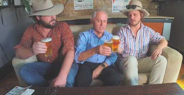 AUSTRALIA: Prime Minister Sits Down and Drinks Beers With Editors of Satire Paper March 11